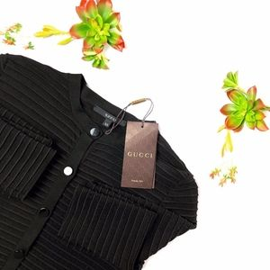 Gucci - Black Ribbed Crop Sweater